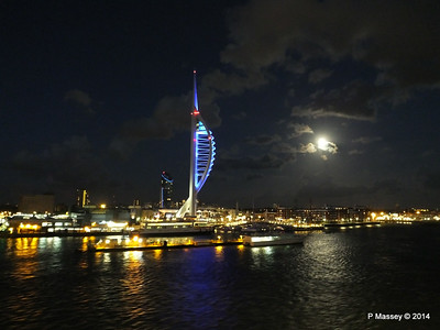 Portsmouth with Spinnaker Tower at Night from BRETAGNE PDM 10-08-2014 21-35-52