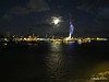 Portsmouth with Spinnaker Tower at Night from BRETAGNE PDM 10-08-2014 21-34-45