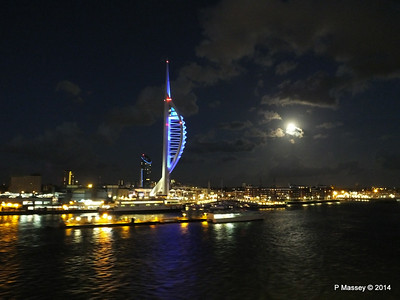 Portsmouth with Spinnaker Tower at Night from BRETAGNE PDM 10-08-2014 21-35-54