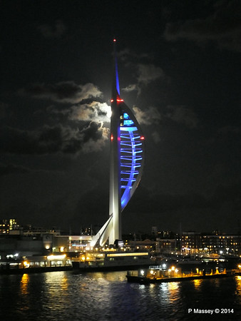 Spinnaker Tower at Night from BRETAGNE PDM 10-08-2014 21-35-13