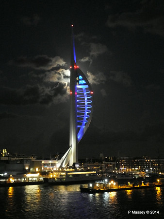 Spinnaker Tower at Night from BRETAGNE PDM 10-08-2014 21-35-14