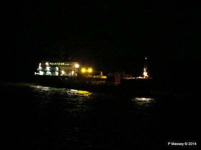 CAROLINE A St Helens Anchorage at Night PDM 10-08-2014 22-03-55