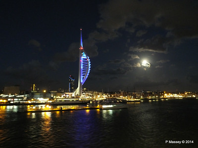 Portsmouth with Spinnaker Tower at Night from BRETAGNE PDM 10-08-2014 21-35-55