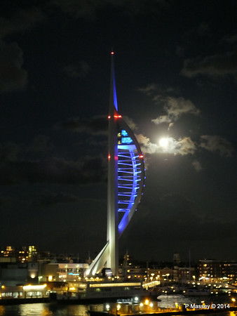 Spinnaker Tower at Night from BRETAGNE PDM 10-08-2014 21-35-25