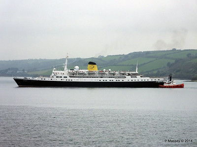 FUNCHAL Arriving at Falmouth 22 Apr 2014