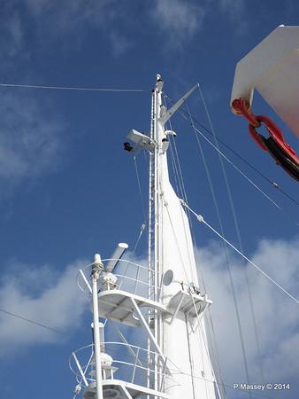 mv FUNCHAL Mast from Bridge Wing PDM 25-04-2014 08-52-34