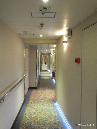 mv FUNCHAL Hallway Port Looking Aft Azores Deck PDM 29-04-2014 18-15-43