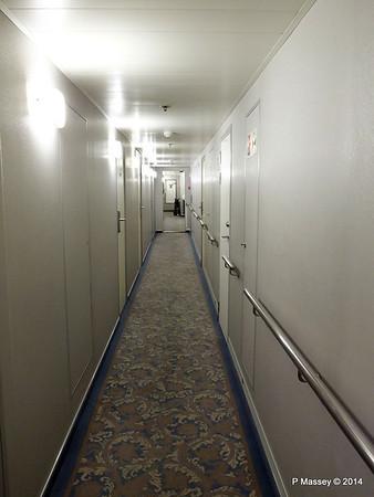 mv FUNCHAL Madeira Deck Stb Looking Aft Hallway PDM 29-04-2014 18-19-35