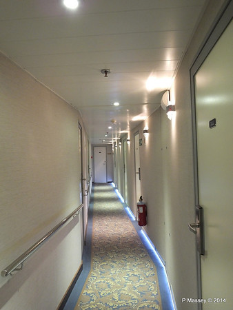 mv FUNCHAL Hallway Port Looking Aft Azores Deck PDM 29-04-2014 18-16-20