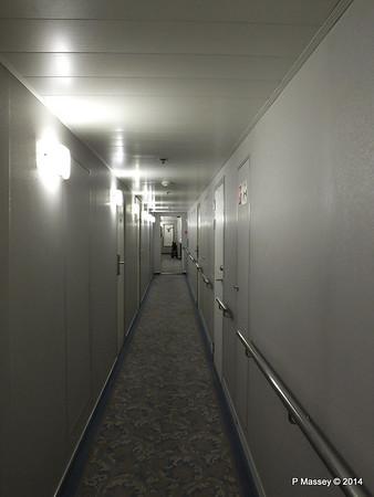 mv FUNCHAL Madeira Deck Stb Looking Aft Hallway PDM 29-04-2014 18-19-32