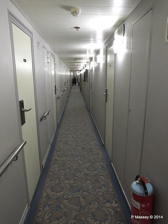 mv FUNCHAL Madeira Deck Stb Looking Fwd Hallway PDM 29-04-2014 18-20-41