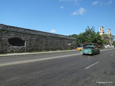 Havana's Old Town Wall near Central Railway Station 02-02-2014 10-22-33