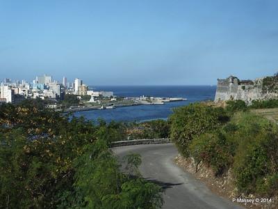 Havana Bay entrance from Christ of Havana 02-02-2014 09-31-04