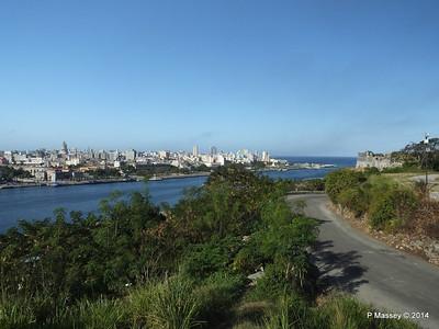 Havana Bay entrance from Christ of Havana 02-02-2014 09-31-13