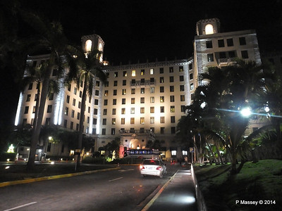 Hotel Nacional de Cuba at Night Feb 2014