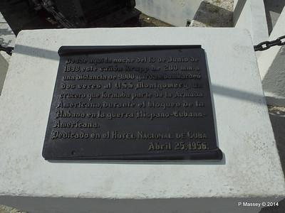 11 inch Krupp canon shot USS Montgomery twice 1898 31-01-2014 18-45-34