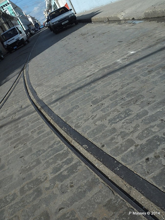 Calle 31 Cobbles and tram tracks Cienfuegos 08-02-2014 14-55-53