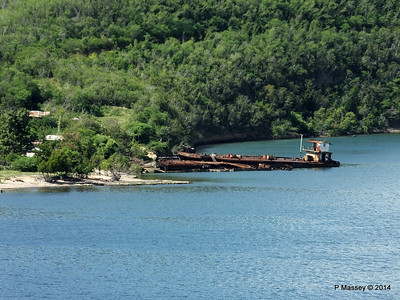 Wrecks W Bay of Santiago de Cuba maybe bunkering barges 06-02-2014 11-22-39