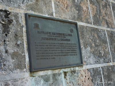 Plaque Entrance El Morro Santiago de Cuba 06-02-2014 13-59-34