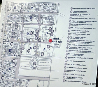Layout of Santa Ifigenia Cemetery Santiago de Cuba 06-02-2014 13-00-46