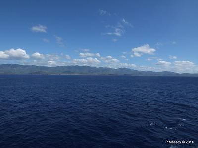 Coastline approaching Santiago de Cuba 06-02-2014 10-37-21