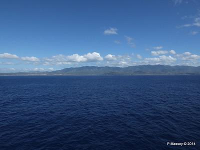 Coastline approaching Santiago de Cuba 06-02-2014 10-37-24
