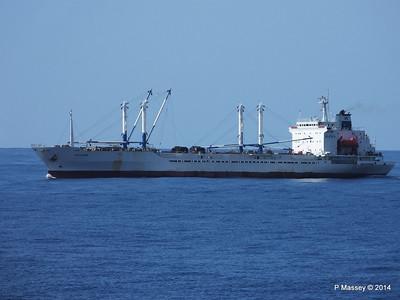 FRIO IONIAN having departed Santiago de Cuba 06-02-2014 11-07-40