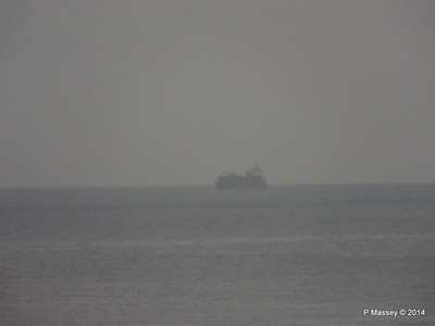 Distant unknown container vessel 01-02-2014 07-12-31