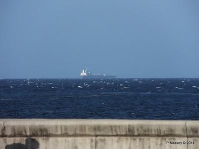 Unknown Vessel from the Malecón Nacional de Cuba 02-02-2014 16-27-42
