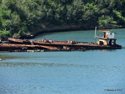 Wrecks W Bay of Santiago de Cuba maybe bunkering barges 06-02-2014 11-22-48