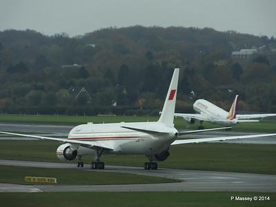 A9C-HMH Bahrain Royal Flight 767 Germanwings Airbus A319 D-AGWX HAM PDM 08-11-2014 11-37-22