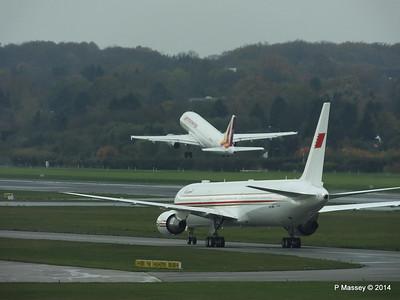 A9C-HMH Bahrain Royal Flight 767 Germanwings Airbus A319 D-AGWX HAM PDM 08-11-2014 11-37-24