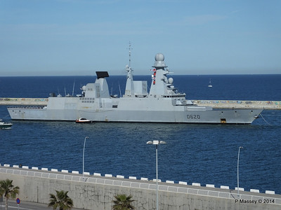 French Frigate FORBIN D620 Departing Barcelona PDM 06-04-2014 15-38-27