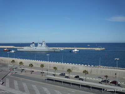 French Frigate FORBIN D620 Departing Barcelona PDM 06-04-2014 15-38-21