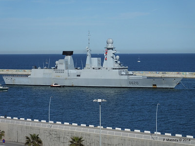 French Frigate FORBIN D620 Departing Barcelona PDM 06-04-2014 15-38-30