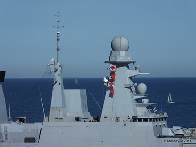 French Frigate FORBIN D620 Departing Barcelona PDM 06-04-2014 15-39-06