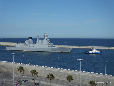 French Frigate FORBIN D620 Departing Barcelona PDM 06-04-2014 15-38-00