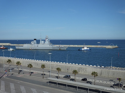 French Frigate FORBIN D620 Departing Barcelona PDM 06-04-2014 15-38-23