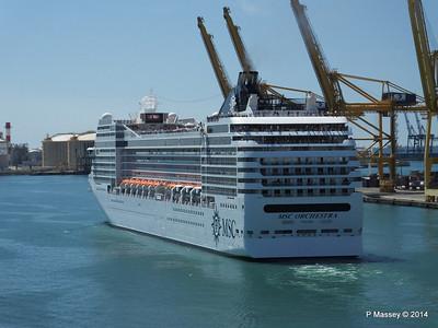 MSC ORCHESTRA Departing Barcelona PDM 06-04-2014 12-18-15
