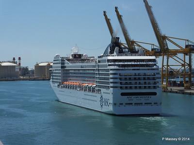 MSC ORCHESTRA Departing Barcelona PDM 06-04-2014 12-18-24