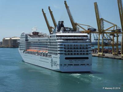 MSC ORCHESTRA Departing Barcelona PDM 06-04-2014 12-18-05