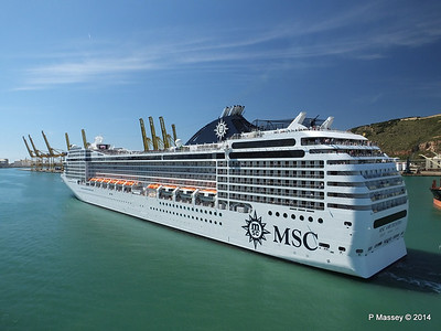 MSC ORCHESTRA Departing Barcelona PDM 06-04-2014 12-16-06