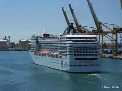 MSC ORCHESTRA Departing Barcelona PDM 06-04-2014 12-18-22