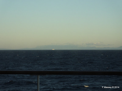 Distant passing EL DJAZAIR II Spanish Coast N Barcelona PDM 06-04-2014 05-45-19