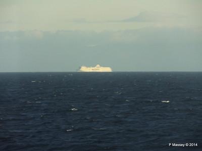 Distant passing EL DJAZAIR II Spanish Coast N Barcelona PDM 06-04-2014 05-51-28
