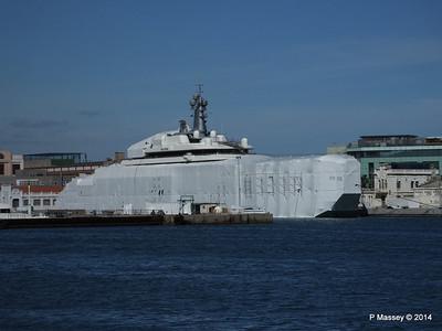 ECLIPSE Under Wraps ECSTASEA just visible Naval Barcelona PDM 06-04-2014 14-13-24