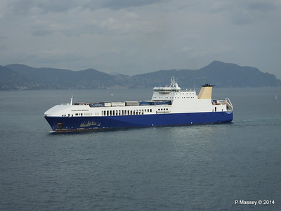 EUROCARGO BRINDISI Approaching Genoa PDM 05-04-2014 15-12-21