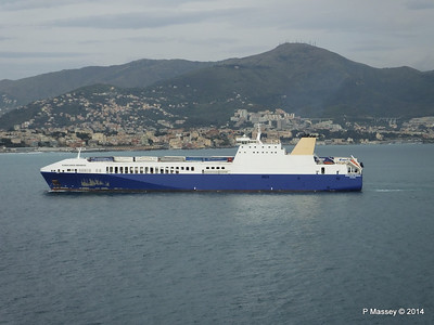 EUROCARGO BRINDISI Approaching Genoa PDM 05-04-2014 15-13-01