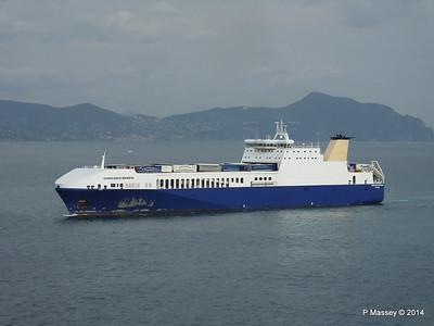 EUROCARGO BRINDISI Approaching Genoa PDM 05-04-2014 15-12-19