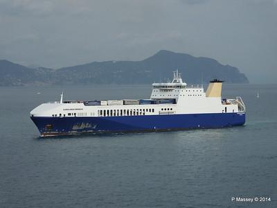 EUROCARGO BRINDISI Approaching Genoa PDM 05-04-2014 15-12-16